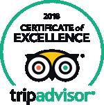 TripAdvisor Certificate of Excellence Award Winner